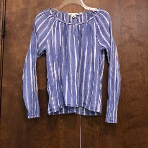 Tops - Gently used blue and white top